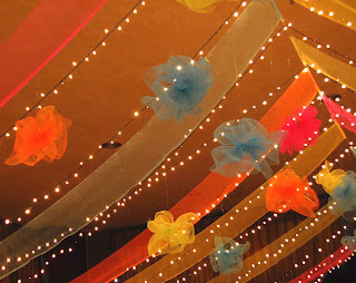 Deco Mesh ceiling close-up