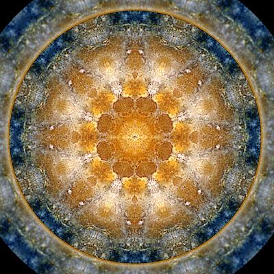 galaxy flower mandala