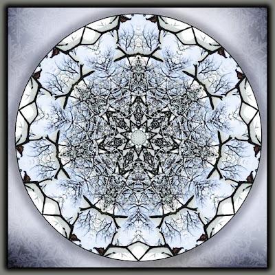 winter lace mandala
