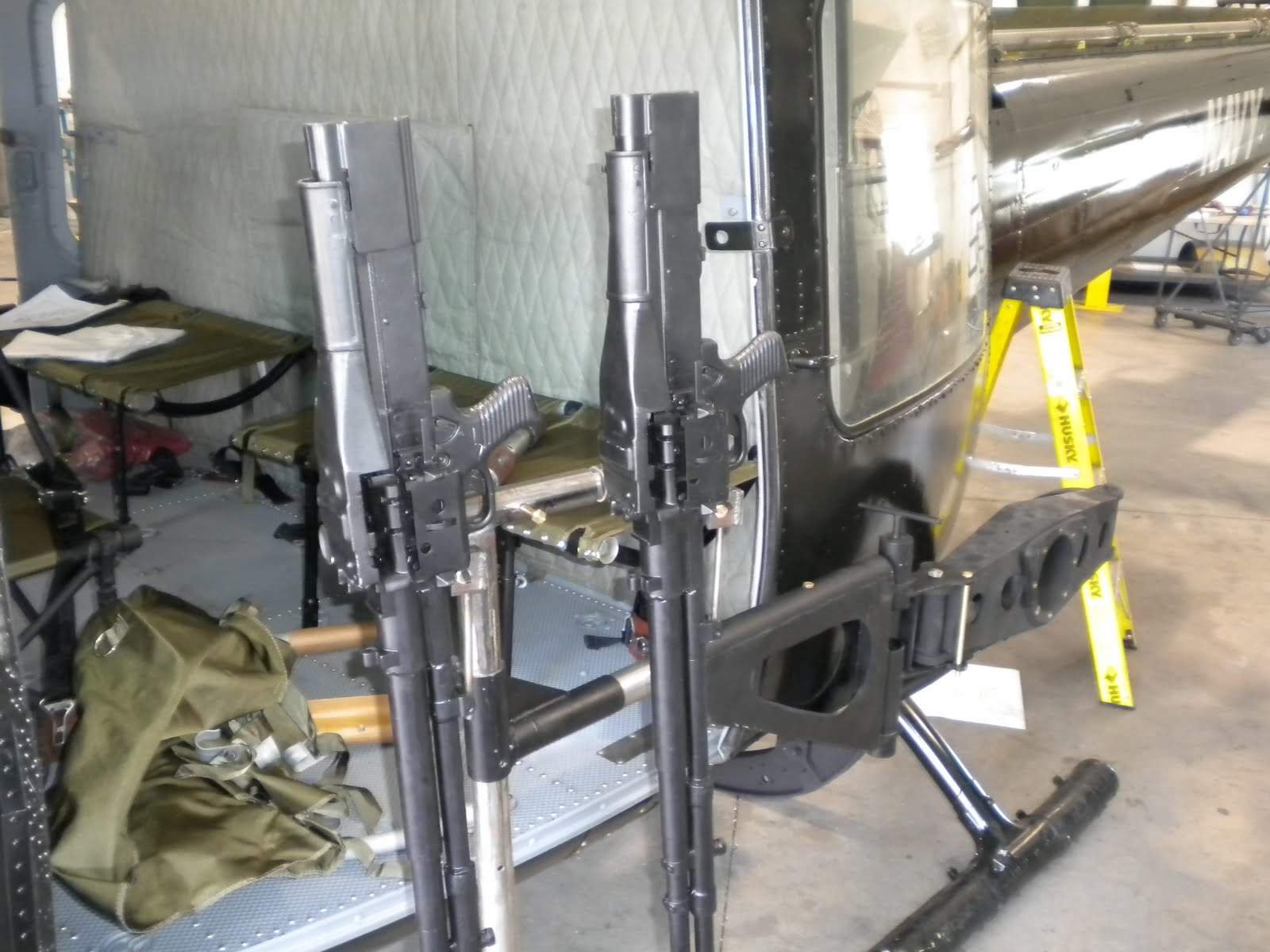 Another angle on the .50 cal door gun with ammo box and a short belt of dummy rounds. & Seawolf 324: July 2010