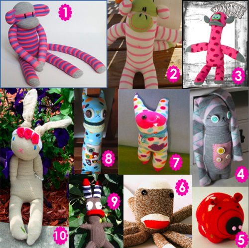 Muñecos de medias y guantes, reciclado