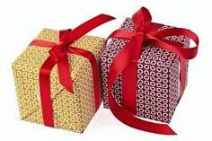 Chirimbolos con forma de paquete de regalo (reciclaje)