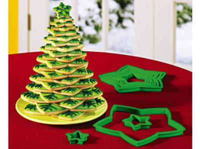 Arbol Navideño de Galletas (Arbol de Navidad comestible)