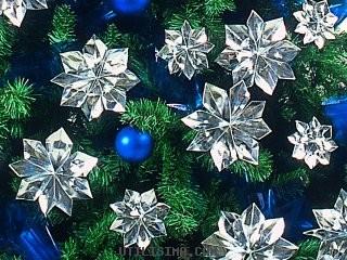 Flores estrella federal para el arbol de Navidad (con papel metalizado)