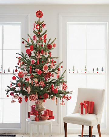Adornos navideños o de Navidad con cintas (flores,estrellas,etc)