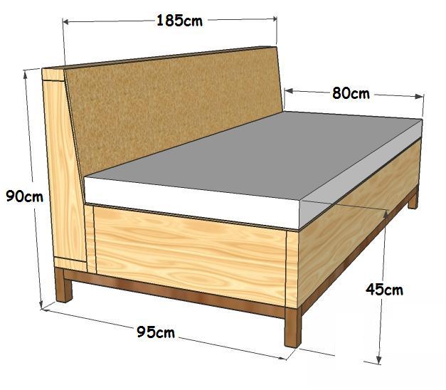 Elabora tu propio sof cama con pallets manos a la obra for Cuanto sale un sofa cama