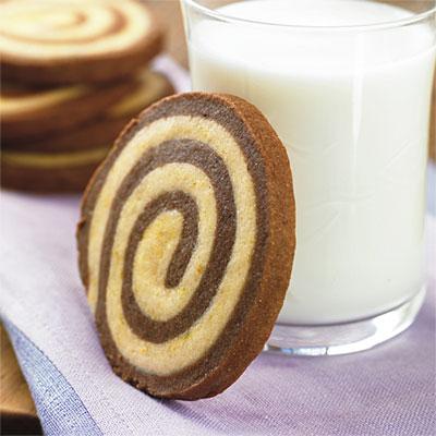 Rueditas espirales de chocolate y vainilla (receta de galletitas)