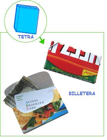 Como hacer un billetera tipo sobre reciclada con un tetra (sin coser)