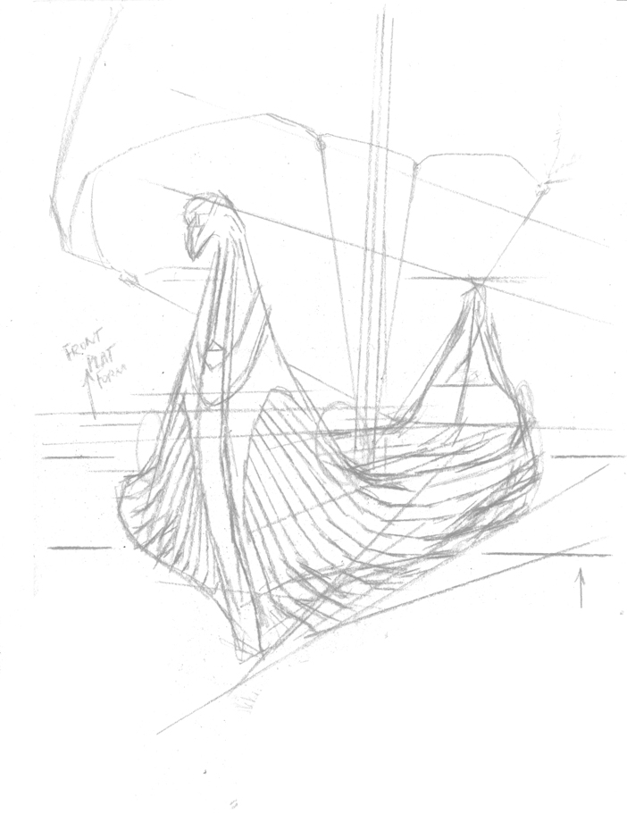 How to draw Viking Longboat