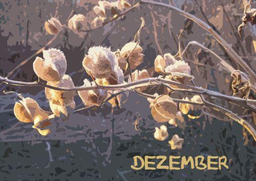 Töpfern für den Garten: Kalenderblatt für den Dezember