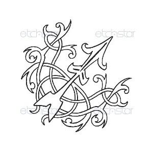 Sagittarius Arrow Tattoo Design