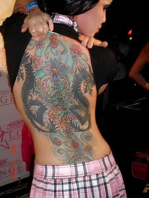cute dragon tattoo designs flower girl for the whole body was in the back,