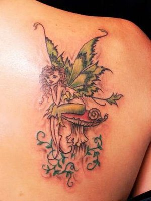 Because famale with fairy tattoo designs are small, they can be some of the