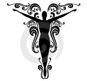 Woman silhouette tattoo for Female silhouette tattoo