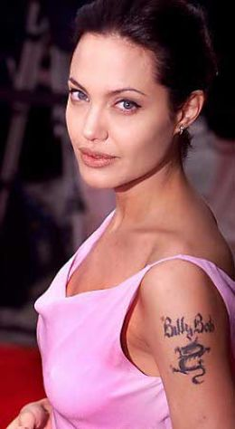 Angelina Jolie's tattoo designs. Angelina Jolie's tattoo designs