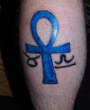 Libra Tattoo On Male Feet