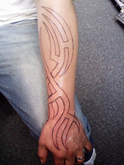 Art forearm tattoo designs for men