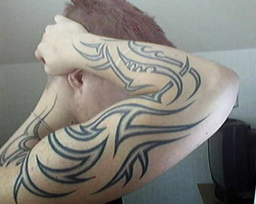 Tribal forearm tattoo ideas 2014