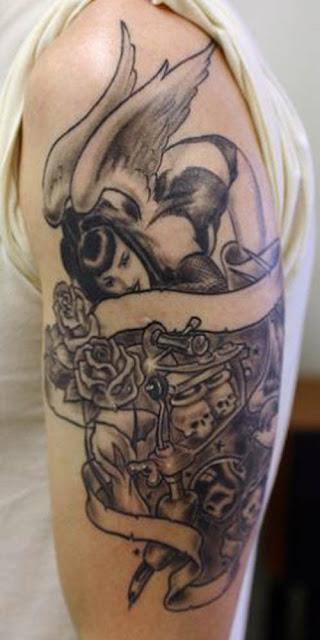 evil angel tattoos. images Angel Tattoos, Evil
