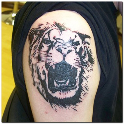 leo sign tattoos. leo tattoo heat.leo sign