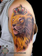 Lion Tattoos (hand tattoo lion leo)