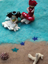 wet felted ocean playmat tutorial