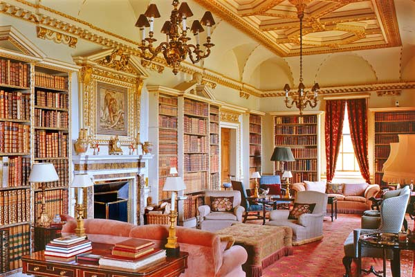 The Long Library At Holkham Hall Designed By Kent