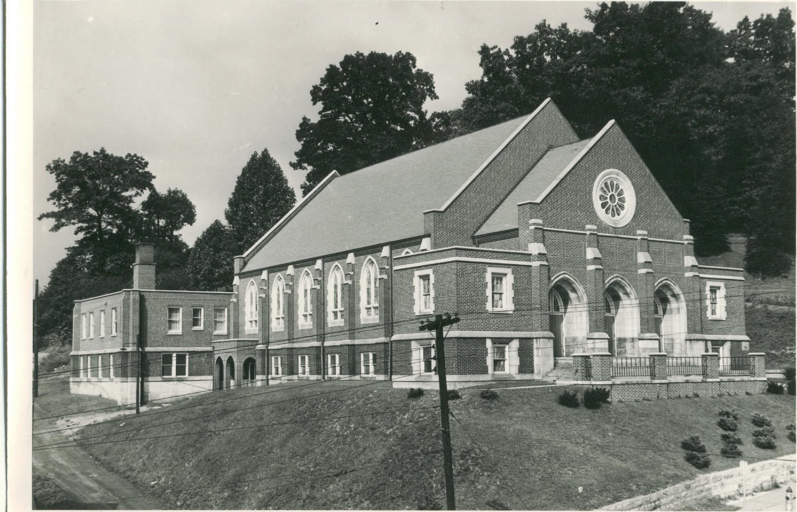 Welcome to the norton united methodist church the miles memorial an early photograph of the newly completed church from the 1950s biocorpaavc Choice Image