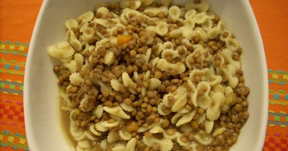 Pasta e lenticchie il ricettario di valentina for Lenticchie d acqua