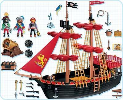Piratas de playmobil 4424 barco pirata for Barco pirata playmobil