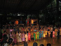 Junior angklung students, their age between 3 until 12 years old