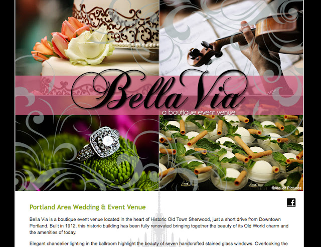 Site Launch: Bella Via | a boutique event venue