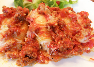 ... Every Season: Three Cheese-Stuffed Shells with Meaty Tomato Sauce