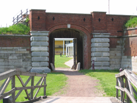 Entrance to the very haunted Fort Mifflin