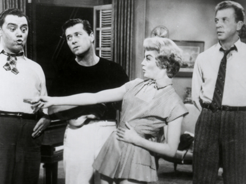 Sheree north and dan dailey in the best things in life are free 1956