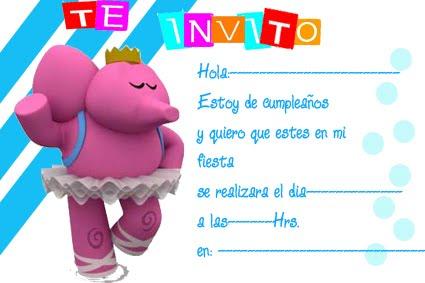 Pocoyó (Ely el Elefante) | Tarjetas de cumpleaños para ...