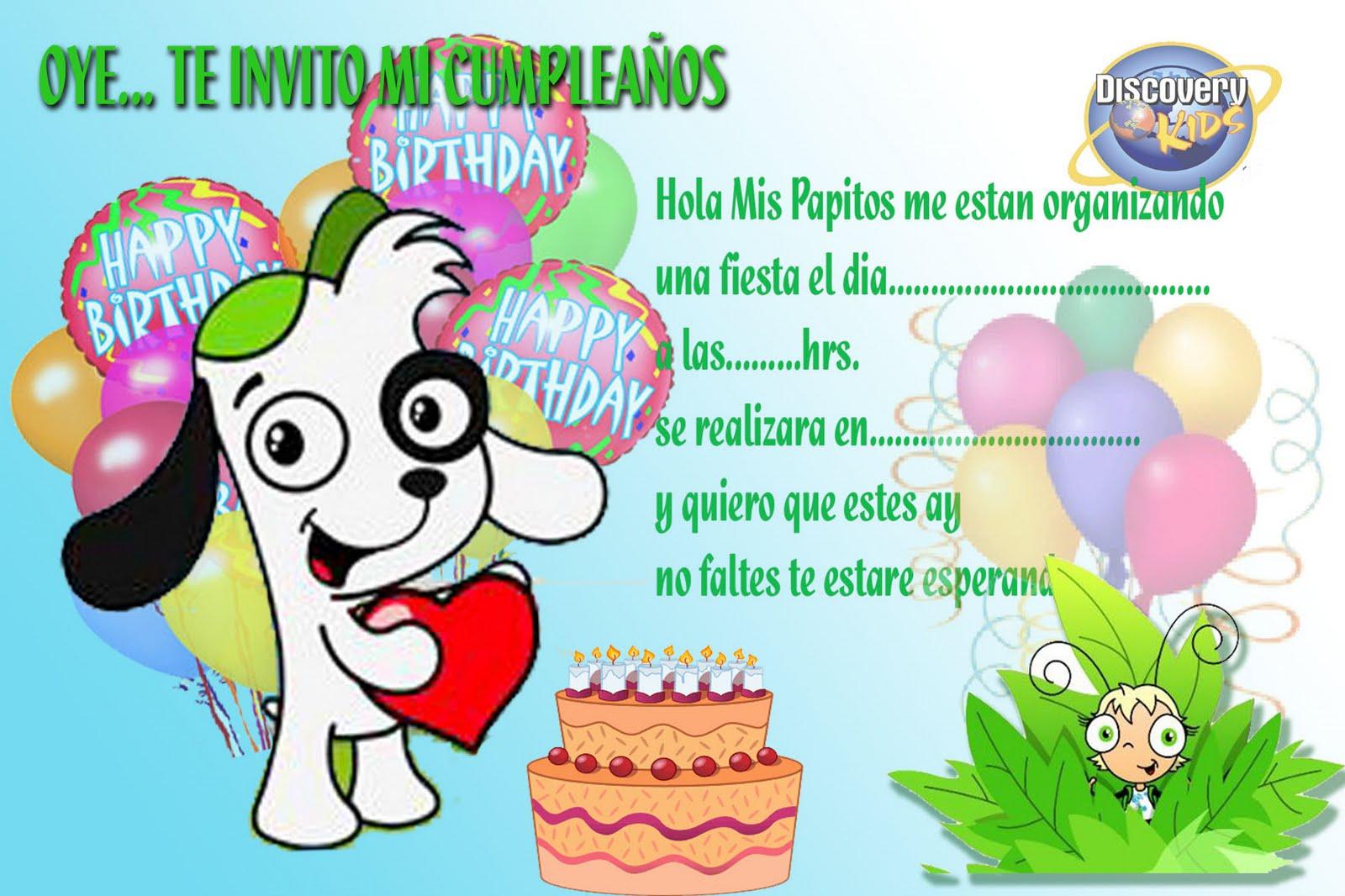 Tarjetas de cumpleaños para imprimir: Tarjetita de Doki