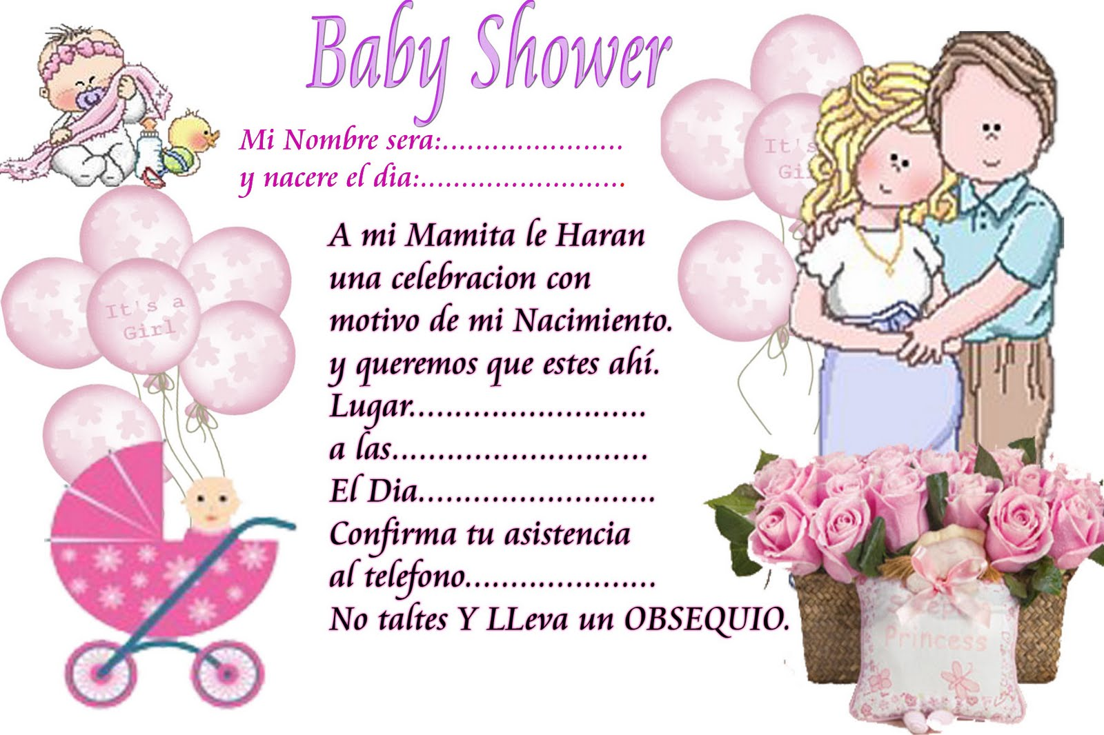 la version para editar en photoshop ideas para baby shower aqui estan