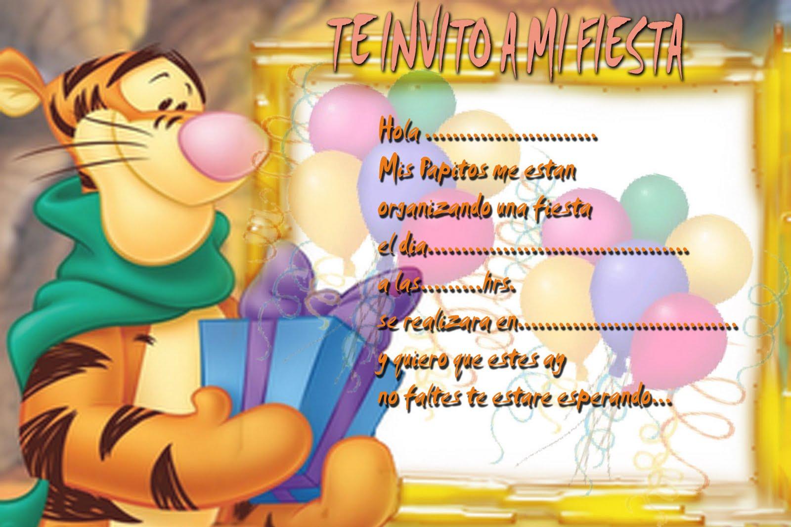 Tigger | Tarjetas de cumpleaños para imprimirTarjetas de Cumpleaños ...