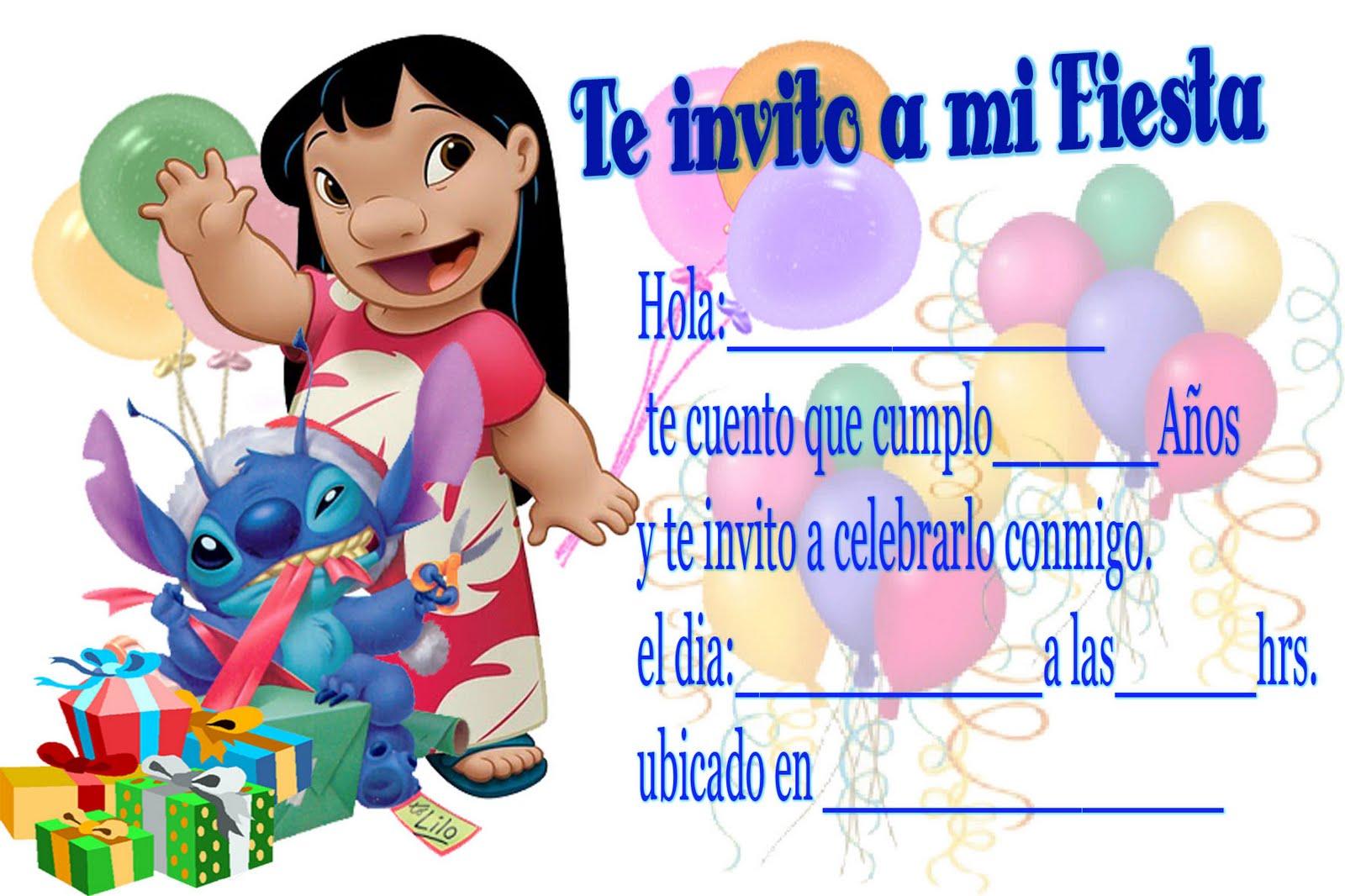 invitacion infantil fiesta cumpleano: