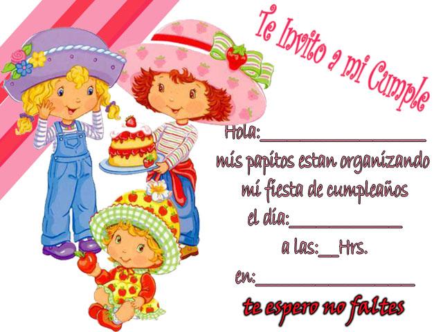 Tarjetas de cumpleaños de frutillita para imprimir gratis - Imagui