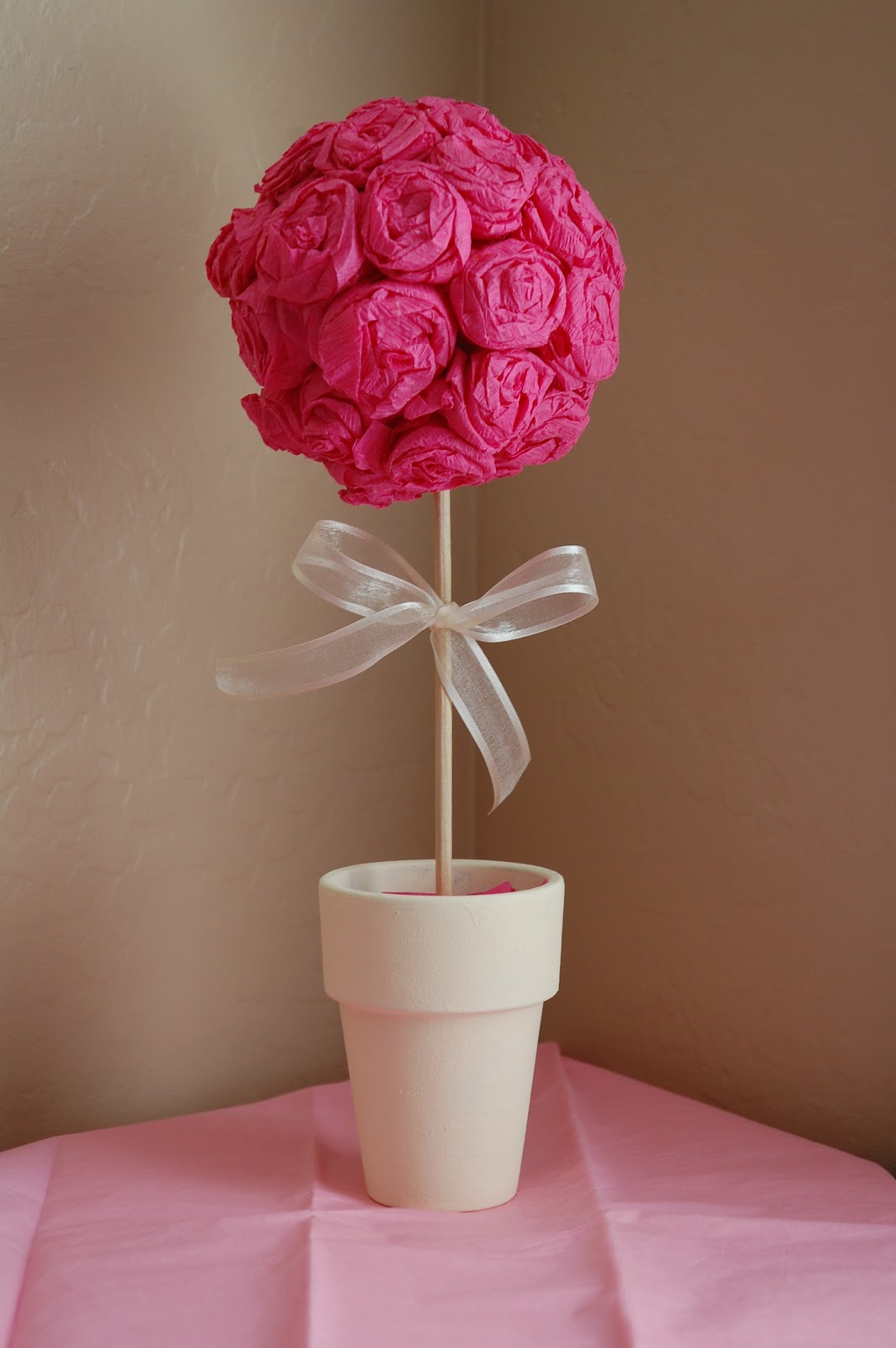 Knocking it off how to crepe paper rose pomander ball