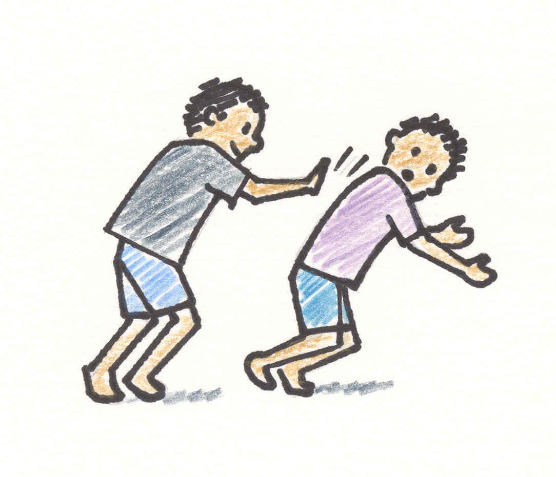 Cartoon People Bullying