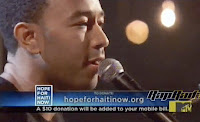 John Legend and Hope for Haiti