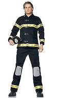 Fireman Firefighter Men's Halloween Costume