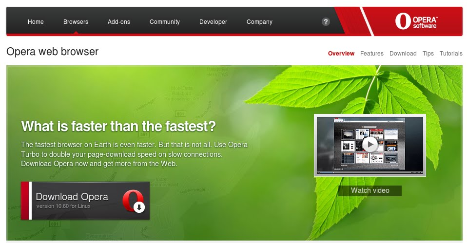Opera: web browser tercepat di dunia