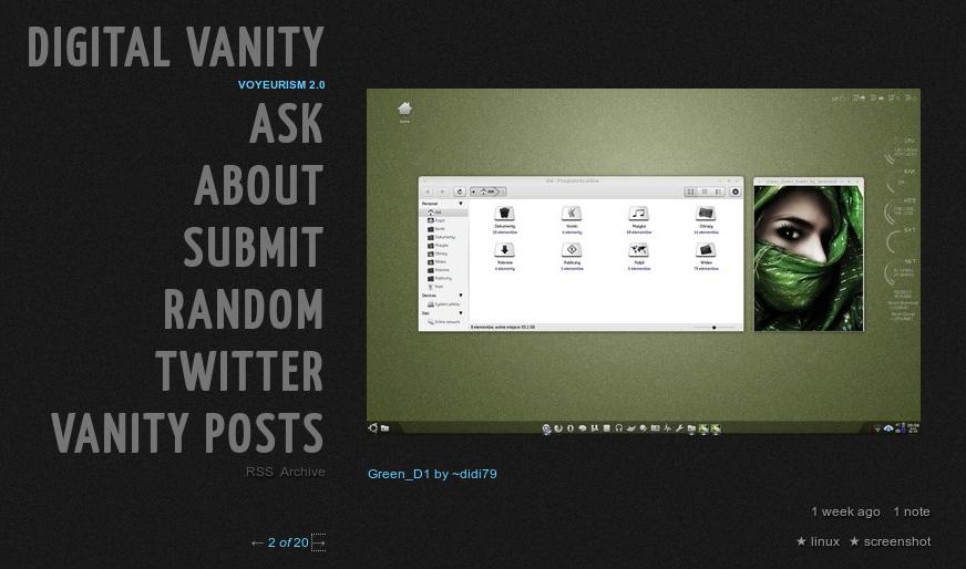 Salah satu screenshot desktop Ubuntu Lucid Lynx