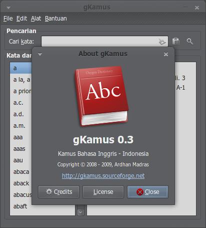 gKamus versi PPA dengan ikon yang baru