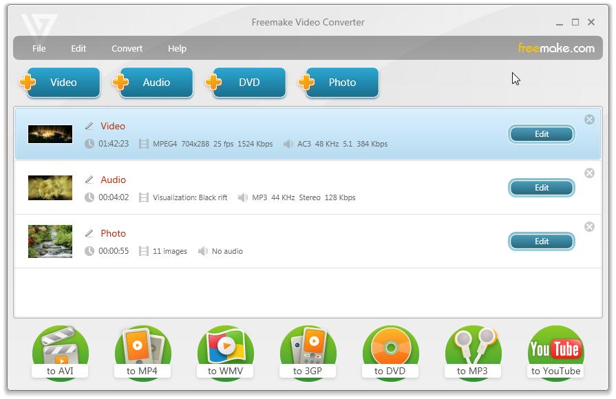 Tampilan Freemake Video Converter
