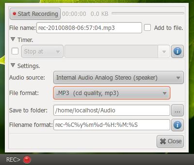 Rec-Applet: Applet untuk merekam suara di Ubuntu